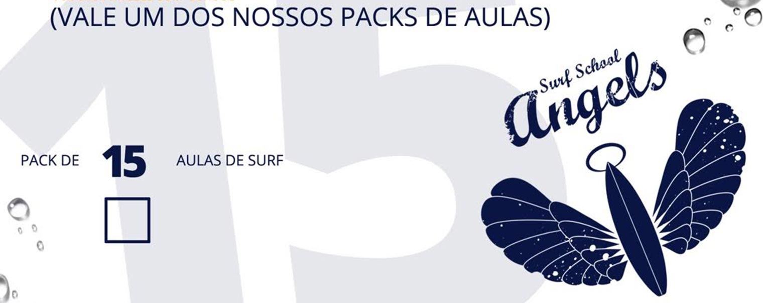Aulas de Surf Regulares - Escola de Surf Angels Surf School (voucher 15)
