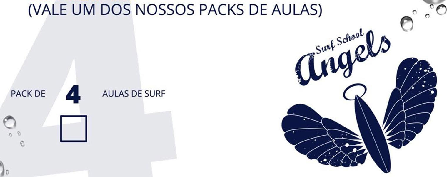 Aulas de Surf Regulares - Escola de Surf Angels Surf School (voucher 4)