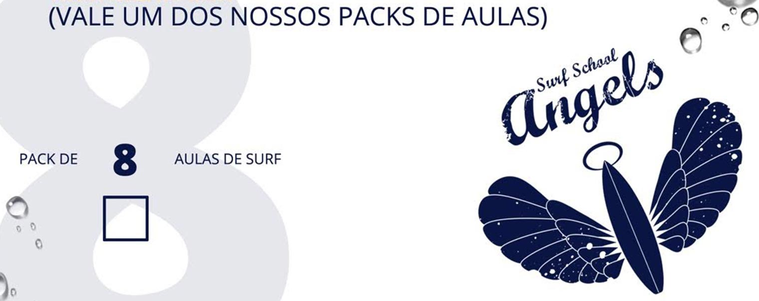 Aulas de Surf Regulares - Escola de Surf Angels Surf School (voucher 8)
