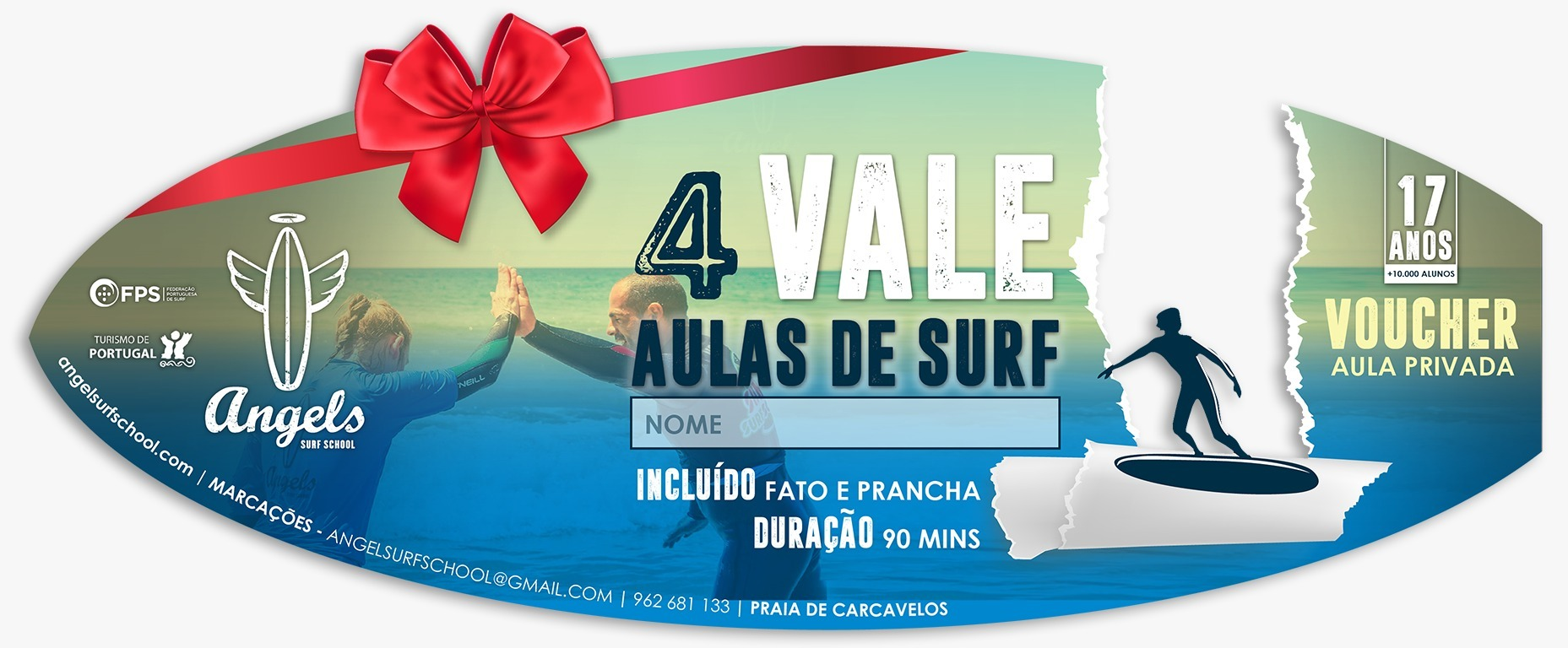 surf vouchers - angels surf school