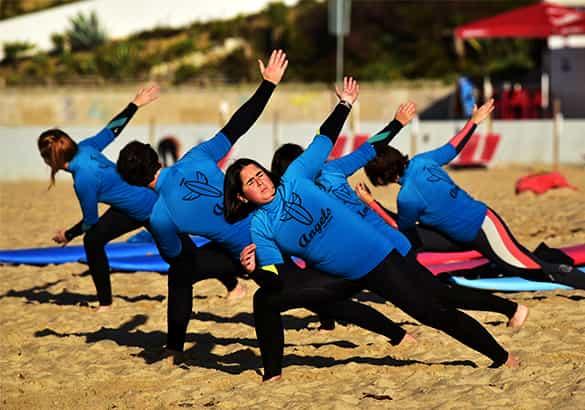 Angels Surf School - Serviços - Aulas regulares - Nível 1